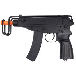 Fuzil Airsoft Gun Submachine V-61 AEG Preto BBS 6mm