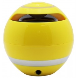 Speaker One Techniques Mini ORB Galaxy Bluetooth - Amarelo