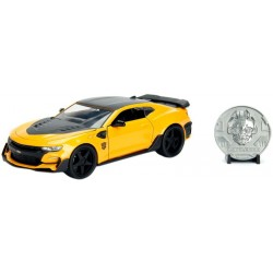 Carrinho Jada Die Cast Metal Bumblebee Chevy Camaro 2016 Transformers The Last Knight 1:24