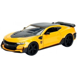 Carrinho Jada Die Cast Metal Bumblebee Chevy Camaro 2016 Transformers The Last Knight 1:32
