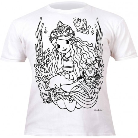 Camiseta de colorear Splat Planet Mermaid - Compras Online
