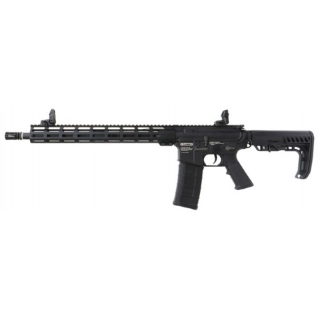 "Fuzil Airsoft Gato M4 MLOK 15"" AEG Black BBS 6mm"