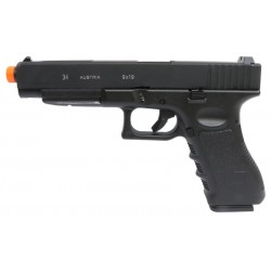 Pistola Airsoft Double Bell G34 DB765 GBB Preto BBS 6mm