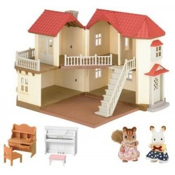 Epoch Sylvanian Families - City House With Lights Gift Set - 2747