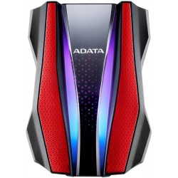 "HD Externo ADATA 2TB RGB Lighting HD770G 2.5"" USB 3.2 Rojo"
