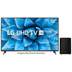 "Smart TV LED LG 55"" 55UN7310PSC 4K/Digital/ WiFi/ BT + Caja de Sonido LG RM1 Negro"