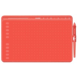 Mesa Digitalizadora Huion Inspiroy HS611-R - Coral Red 258.4x161.5mm
