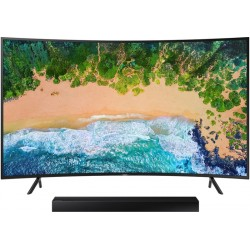 "Smart TV LED Samsung 49"" UN49NU7300G Curved Digital/UHD 4K + Soundbar HW-N300 15W RMS"