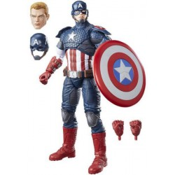 Muñeco Capitán América Legends Series Marvel Hasbro B7433