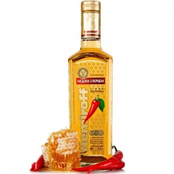 Vodka Nemiroff Mel e Pimenta 700ML Kit com 03 Copos