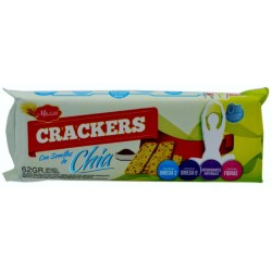 Galletas Mazzei Crackers con semillas de chia 62g