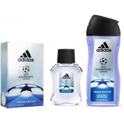 Adentro gemelo exprimir  Perfume Kit Adidas UEFA Champions League Arena Edition EDT 100ml + Shower  gel 250ml Mascul - Compras Online