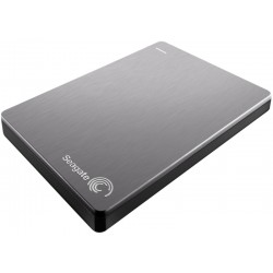 Disco Externo Seagate 2TB Backup Slim Portable USB 3.0 PC Mac iOS y Android - Plata