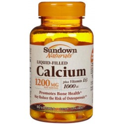 Sundown Naturals Calcium 1200 mg 60 cápsulas