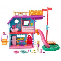 Mini Boneca Polly Pocket Mattel Casa de Ferias da Polly FCH21