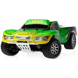 Automodelo Off Road WLtoys Vortex Short Course A969-B 1/18 RTR 4WD 2.4GHz Max 50km/h-Verde