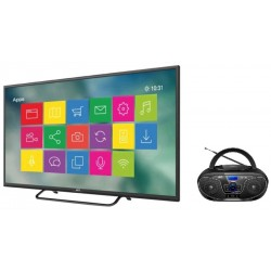 "Smart TV LED JVC 43"" LT43KB65 Digital + Radio JVC RD-N327"