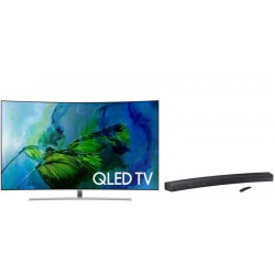 "Smart TV QLED Samsung 75"" Curved QN75Q8CAMP 4K + Home Theater Samsung Curve HW-MS6500"
