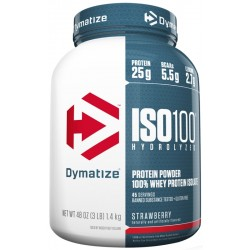 Dymatize Suplemento ISO100 Hydrolyzed Strawberry (1.40kg)