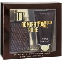 a87e8b126f Kit Perfume Linn Young Admiration Pure EDT 100mL + Gel Douche 150mL -  Masculino