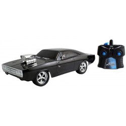 Carro Controle Remoto Die Cast Dom's Dodge Charger R/T Fast and Furious 8 1:16