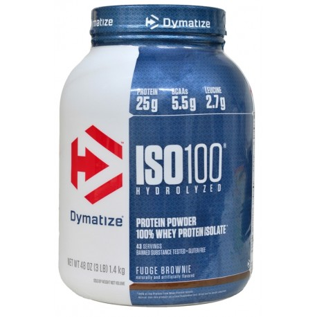 Dymatize Nutrition ISO 100 Hydrolyzed Fudge Brownie - 1.4Kg