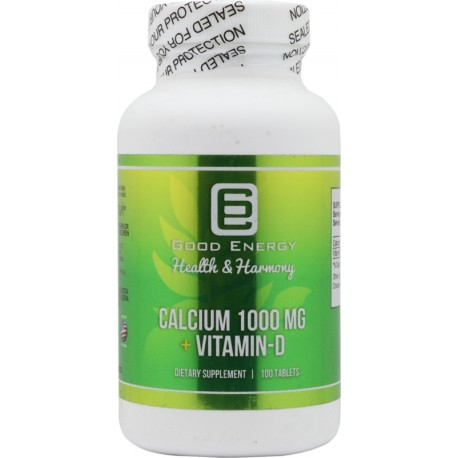 Suplemento Good Energy Calcium 1000 mg + Vitamin-D 100 Capsulas