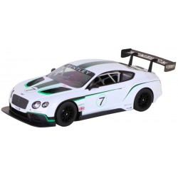 Bentley Continental GT3 Branco Escala 1/14 R/C - Rastar 70600