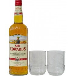 Whisky Sir Edwad's Blended 1L + 2 Vasos