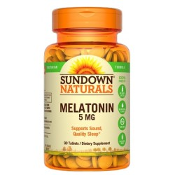 Sundown Naturals Melatonin 5MG (90 Capsulas)