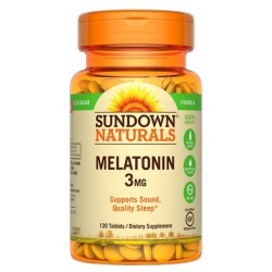 Sundown Naturals Melatonin 3MG (120 Capsulas)