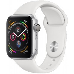Apple Watch S4 (GPS+Celular) Caja Aluminio 40mm Pulsera Deportiva Blanca