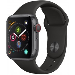 Apple Watch S4 (GPS+Cellular) Caja Aluminio 40mm pulsera deportiva negra