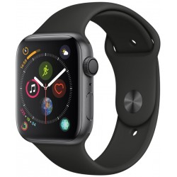 Apple Watch S4 (GPS+Cellular) Caja Aluminio 44mm pulsera deportiva negra MTVU2BZ