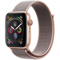Apple Watch S4 (GPS+Cellular) Caja Aluminio 44mm pulsera Deportiva Loop Arena Rosa