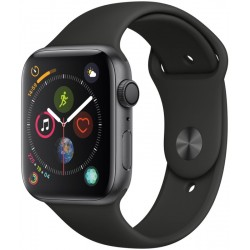 Apple Watch Series 4 (GPS) Caja de aluminio 44mm pulsera deportiva Negra - MU6D2LZ