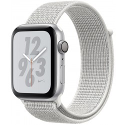 Apple Watch Series 4 Nike+ (GPS) Caja Aluminio 44mm pulsera loop sport blanco