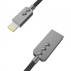 Cable MicroUSB/Lightning One Techniques 1m - Negro