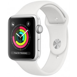 Apple Watch S3 (GPS) Caja Aluminio 38mm Pulsera Deportiva Blanca