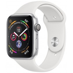 Apple Watch Series 4 (GPS) Caja Aluminio 44mm pulsera Deportiva Blanca