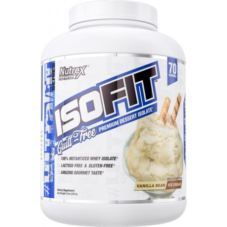 Nutrex Research ISOFIT Guilt-Free - Vainilla Ice Cream (2.317g/ 5.1lbs)