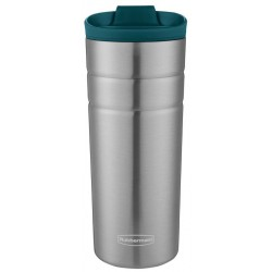 Termo Inoxidable Rubbermaid Termica 2006684 - 473mL Plateado/Verde