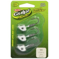 Isca Artificial Berkley Gulp Heads 1/4 GHDJ14-W20 1271217
