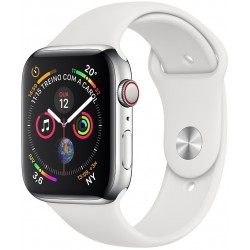 Apple Watch S4 (GPS+Cellular) Caja Inox 44mm Pulsera Deportiva Blanca