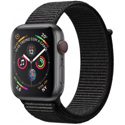 Apple Watch S4 (GPS+Cellular) Caja Aluminio 44mm pulsera deportiva loop negra MTVV2BZ