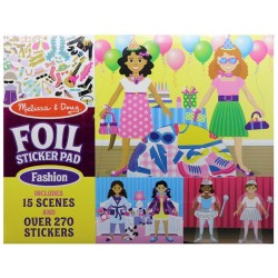 Sticker Reutilizable Melissa & Doug Pad Foil Fashion - 5546 (270 Stickers - 15 Scenes)
