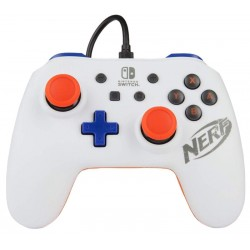 Control Nintendo Switch PowerA Wired Nerf 1507044 - Blanco (Con cable)