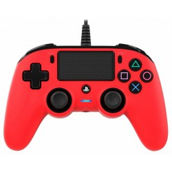 Control Nacon Wired Compact Controller para PS4 - Rojo
