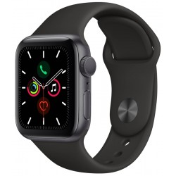 Apple Watch S5 (GPS) Caja Aluminio Space Gray 40mm Pulsera Deportiva Negra MWV82LL