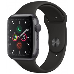 Apple Watch S5 (GPS) Caja Alumínio Space Gray 44mm Pulsera Deportiva Negra MWVF2LL